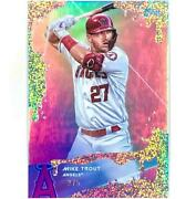2020 Topps X Steve Aoki 1 Mike Trout Wave 1 Silver Funfetti Refractor /5 Angels