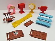 Vintage 1976 Hasbro Weebles Mickey Mouse Clubhouse Parts And Accessories