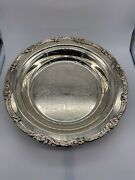 Vintage Old Silver Plated Dish Plate Decorative Good Condition
