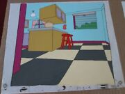 The Simpsons Tracey Ullman Production Background 1988 Cel Rare The Money Jar