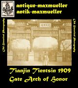 Photo China Tianjin Tientsin Italian Officer Gate Arch Of Honor - Orig. Andasymp 1909