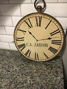 Vintage Watch Clock Jewelry Repair Trade Sign Wood C.a. Janson