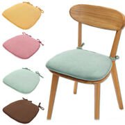2pcs Sofa Corduroy Pad Non Slip Seat Cushion Thicken Chair Solid With Ties New