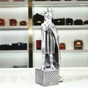 Banksy Modern Art Riot Of Liberty Nose-picking Girl Resin 10inches Statue Decor