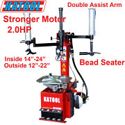 Katool Tire Changer Kt-t830 2.0hp Motor Double Assist Arm Bead Seater Garage