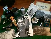 Vintage Junk Drawer Lot- Table Lighters Postcards Snoopy Ronald Reagan +++