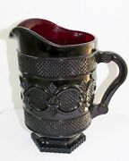Vintage Wheaton Avon 1876 Cape Cod Ruby Red Glass Pitcher 48 Ounce Wine Water