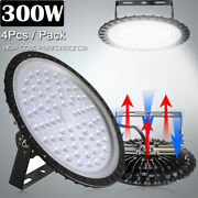 4x 300w Ufo Led High Bay Light Factory Warehouse Industrial Workshop Shed Mall