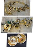 Lunch At The Ritz 3 Piece Belt Earrings Bolo-rare Vintage Rhinestone Rodeo Set