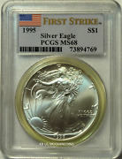 1995 Silver Eagle Pcgs Ms68 First Strike