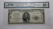 5 1929 New Paltz New York Ny National Currency Bank Note Bill Serial Number 2