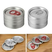 20x Aluminum Soda Can Lids Beverage Top Covers Beer Tins Caps With Pulling Ring