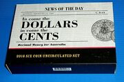 2016 In Come The Dollars Out Go The Cents 6 Coin Set With Round 50 And 1 +2 Cent