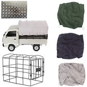 For Wpl D12 Metal Rc Car Roll Frame Cage Rear Bucket Carport Shed Canvas Awning