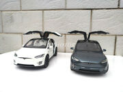 1/18 Tesla Model X Diecast Model Car Toys Gift Collection Cold Silver/white