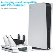 Dual Fast Charger For Ps5 Wireless Controler Usb 3.1 Type-c Charging Cradle Dock