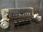 Original 1974 Ford Pinto Car Am Push Button Radio Assembly D4aa-18806 Parts