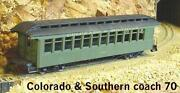 On3/on30 Wiseman Model Services Colorado And Southern Passenger Coach 70 Kit