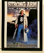 Troy Aikman Cowboys Costacos Brothers 8.5x11 Framed Print Vintage 90s Poster