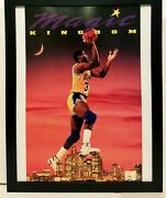 Magic Johnson La Lakers Costacos Brothers 8.5x11 Framed Print Vintage 90s Poster