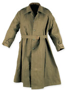 Ww2 Canvas Split Tail Military French Duster Without Wool Liner - Size M / L