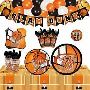 Basketball Party Tableware Supplies Set Serves 20 Guests Basketball Party Suppl