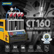 Autool Fuel Injector Tester 4-cyliner Ultrasonic Cleaner Machine Car Motorcyle
