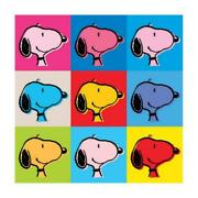 Peanuts Snoopy Warhol Face Hand Numbered Canvas
