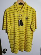 1 Nwt 1914 Collection Men's Polo, Size Large, Color Yellow/navy J248