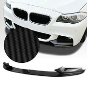 Front Bumper Spoiler Lip Cover For 2011-2016 12 Bmw F10 5 Series M Sport Cb Look
