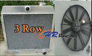 For 55-57 Chevy Nomad Bel Air Small Block 150/210 Sbc V8 Aluminum Radiator And Fan