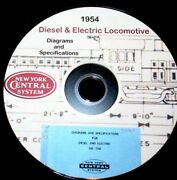 New York Central Rr 1954 Electric And Diesel Data And Diagrams Pdf Pages On Dvd