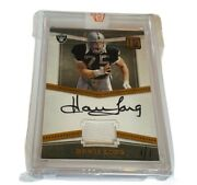 Howie Long Autograph Game Used Jersey Patch True 1/1 Raiders 2017 Panini Auto Sp