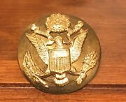 Vintage Wwii Brass Us Military Army Hat Pin Badge W/ Eagle E Pluribus Unum 1.5