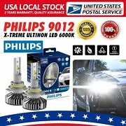 2x Philips X-treme Ultinon Led 6000k 9012 Bulb Headlight Low Beam Upgrade Lamp