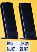 Two 2 Lorcin L 25 Acp Factory Magazine 6 Round Made In The Usa New Production