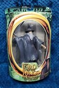New 2001 Toybiz Lord Of The Rings Fellowship Gandalf Figure Light Up Staff