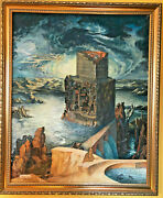 Original Painting.sergey Spodenuk - The Tower Of Babel. Tempera/canvas