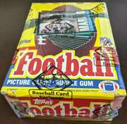 1985 Topps Football Unopened Bbce Sealed 36 Pack Box Authentic 62941