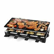 Raclette Table Grill, Electric Indoor Grill Korean Bbq Grill, 207.111 Black