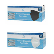 100pcs Litepak White And Black Disposable 3 Ply Face Mask Premium Mouth Cover