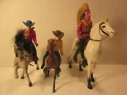 Hartland Style Mini Size, Lot Of Assorted Western Cowboys And Horse's