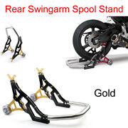 Gold Motorcycle Stand Front Or Rear Wheel Lift Paddock Hook Swingarm Tg