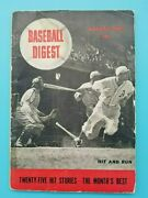 Baseball Digest Magazine - August 1942 - First Issue Ever - Elmer Valo Cover