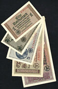 Wwii Germany 1, 2, 5, 20, 50 Reichsmark 1940-1945, Set 5 Banknotes, Fine Lot 4