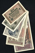 Wwii Germany 1, 2, 5, 20, 50 Reichsmark 1940-1945, Set 5 Banknotes, Vf-xf Lot 5