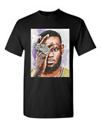 Lebron James 4 Rings Black White Navy New Condition T-shirt Tees Unisex Size S