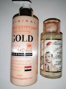 Pure Egyptian Magic Whitening Gold Lotion + Glutathione Comprime Serum