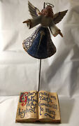 Jim Shore Peace On Earth Enesco 2004 Christmas Nativity Angel W Book And Stand