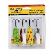 Williams Pike And Walleye Favorites 4 Pack Kit - 4-pw By Brecks - Fishing Lure
